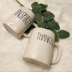 Rae Dunn Inspire Thankful Coffee Mugs